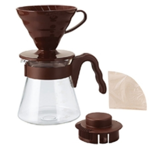 Hario zestaw V60 - 02 Pour Over Kit Brown - drip + serwer + filtry