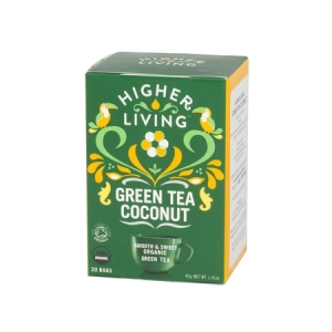 Higher Living Green Tea Coconut - herbata - 20 saszetek