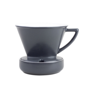 Barista & Co - Drip Coffee Filter Grey - Dripper porcelanowy